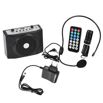 Black Waistband Voice Amplifier Booster Headset Microphone Recharge US/UK/EU ZY