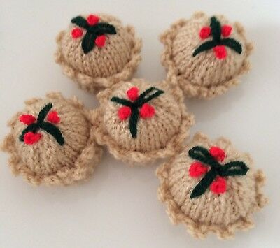 5 X Hand Knitted Mince Pie Ferrero Rocher Chocolate Covers