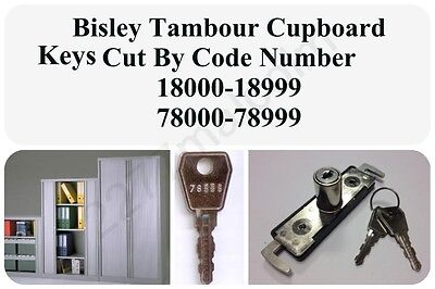 Bisley Tambour Cupboad Keys Cut To Code Number