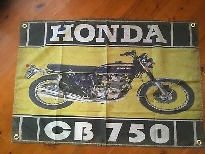 Honda cb 750 K1 k2  garage flag  bar flag man cave bar ware pool room garage