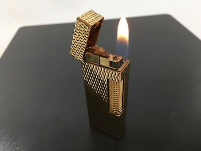 Dunhill Cigarette Gas Gold Lighter Very good condition 1013001