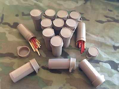 15 Army Ration Pack Bottles Survival Matches Waterproof Wind Mre Tool Emergency