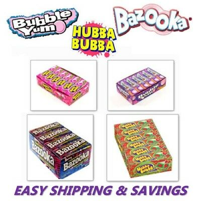 Hubba Bubba Bazooka Bubble Yum Bubble Gum Pick One Box Free World Ship Sale