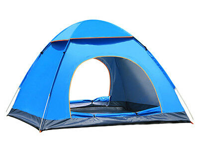 2016 New design 3-4 Person Pop Up Camping Tent Double Layer Outdoor Waterproof