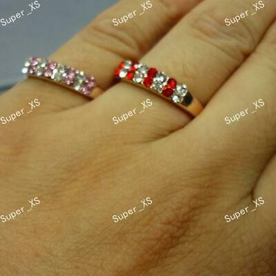 10-100pcs Wholesale Jewelry Mix Full Czech Rhinestones Gold plated Fashion Rings
