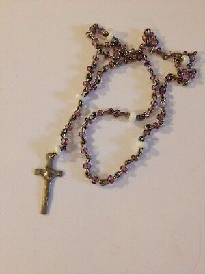 Circa 1940-1950 Vintage TINY rosary beads Holy Religious Catholic