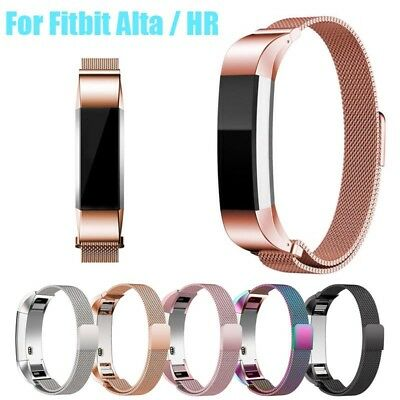 Magnetic Milanese Stainless Steel Watch Band Strap for Fitbit Alta / Alta HR Gar