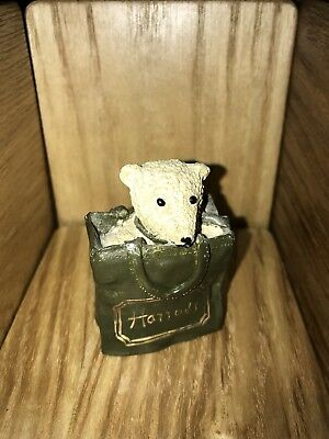 HARRODS SHOPPING BAG TEDDY By Peter Fagan