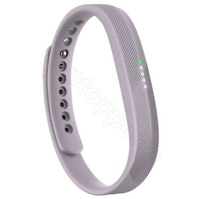 FitBit Flex 2 Waterproof Activity Tracker adjustable Lavender Large Band