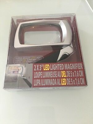 Ultraoptix 2X3 Led Lighter Magnifier