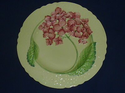 Antique 1930's Large  Carlton Ware Carltonware Green With Pink Flowers Plate