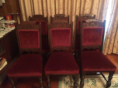6 Antique Victorian Dining chairs