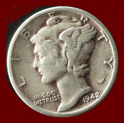 1942-D Mercury 90% Silver Dime Ships Free. Buy 5 for $2 off