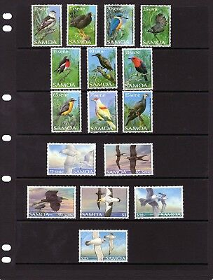 SAMOA , Birds issues 10 sen - $20  Mtd MINT