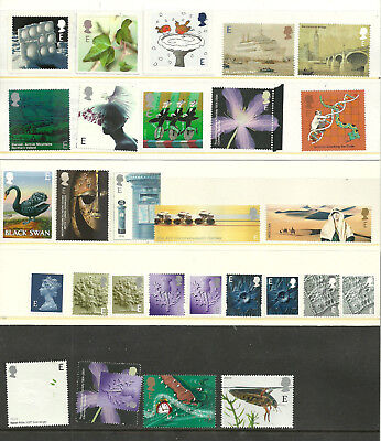 GB QEII ~ Selection of 29 Mint 'E' Stamps ~ Europe Airmail