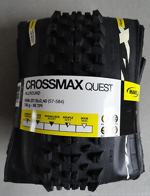 NEW MAVIC CROSSMAX QUEST TYRE ALLROUND UST READY TUBELESS TYRES 650b(27.5)x2,40