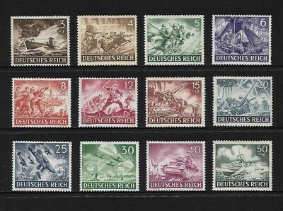 GERMANY, Deutsches Reich - mint 1943 Armed Forces & Heroes Day, set of 12, MNG