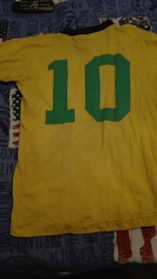 Rare Pele' Brazil End 60S Before Word Cup Mexico '70 Match Worn Shirt