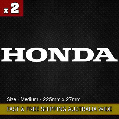 2 Pcs HONDA Motorcycle Word Sticker Logo Vinyl Decal sticker JDM CBR 250 400 600