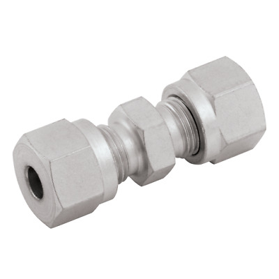 """Hydraulic Compression Equal Straight Tube Connector Coupling 1/2"""" 12.7mm"""