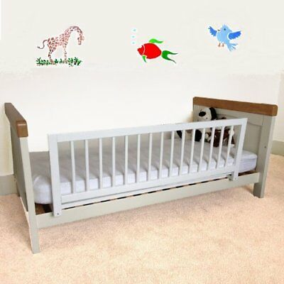 Safetots Wooden Quick And Easy Single Sided Bed Rail In White- Graded