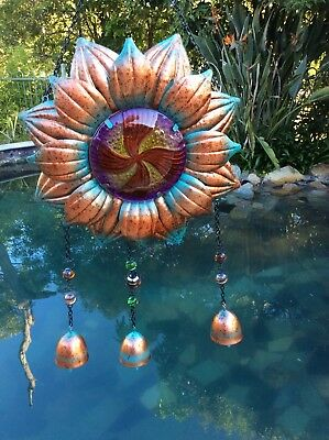 Sun Flower Windchime 27cm wind chime cowbells Sunflower Garden Patio Decor Gift