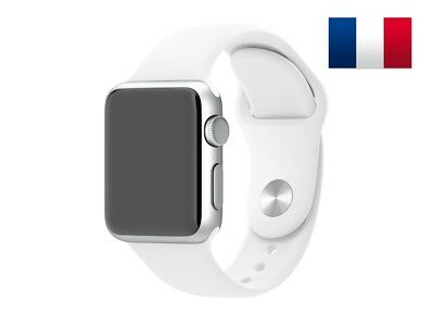 Bracelet sport silicone blanc pour Apple Watch version 38mm