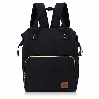 Japanese Style Top Handle Canvas Convertible Backpack Travel Shoulder Satchel