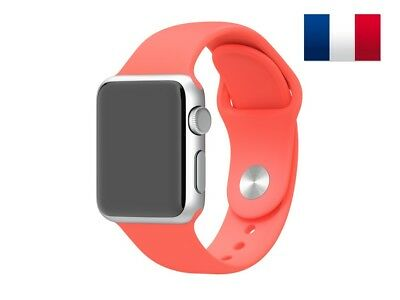 Bracelet sport silicone rose pour Apple Watch version 38mm