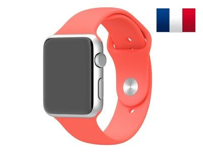 Bracelet sport silicone rose pour Apple Watch version 42mm