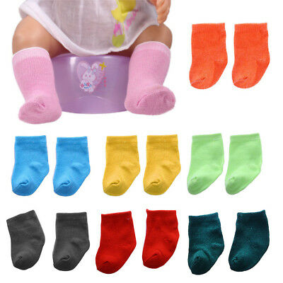 9 colors Socks Doll Clothing Wear Fit 43 cm Baby Born Zapf Dolls Clothes