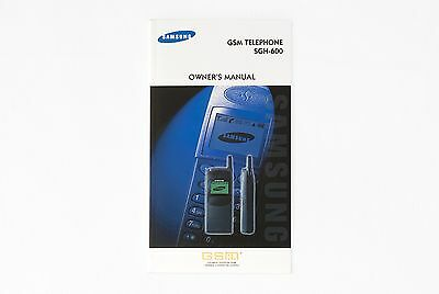 Manuale d'Uso Originale Samsung SGH-600 Original Owner's Manual - 111p ENG