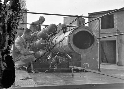 PHOTOGRAPHIC GLASS NEGATIVE TESTING GAS TURBINE ENGINES LEICESTER 19th SEPT 1947