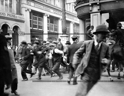 Photographic Glass Negative Rioting Unemployed - London In Depression Sept 1931