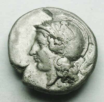 Campania, Hyria Ar Stater With Old Collection Packet (34Y)