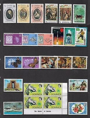 DOMINICA - mixed collection No.5, incl block of 4, mint MNG