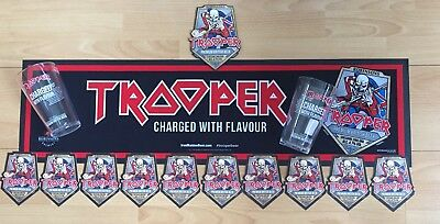 Iron Maiden Trooper Real Ale Set Brand New (Pump Clip,glasses,bar Runner,10 Mats