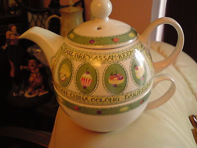 Arthur Wood: teas of the world  Tea For One: Teapot & Cup, VGC, FREE-MAILING..