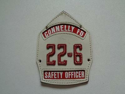 """Connelly FD 22-6 Fire Department Helmet Shield Safety Officer 6 1/4"""" x 4 3/4"""""""