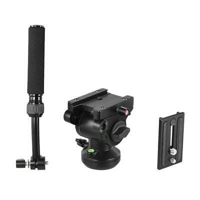 Professional Fluid Tripod Head with Handle Quick Release Plate for Camera