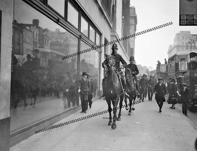 Photographic Glass Negative Rioting Unemployed In London In Depression Sept 1931