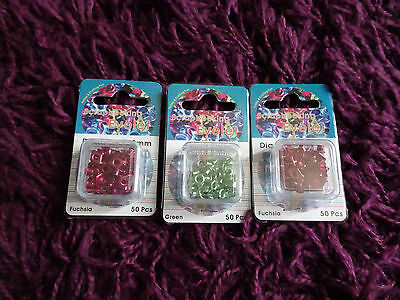 3 New Packs Of Metallic Eyelets  Huge 50P Sale