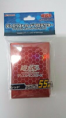 Konami YUGIOH sleeves Duelist Card Sleeves Protector Red 55pcs