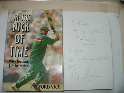 Signed Book(2)-In The Nick Of Time-Telford Vice And Peter Kirsten-Sa Cricket