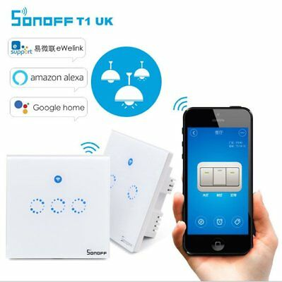 Sonoff 1 2 3 Gang Smart WiFi RF Panel Touch Switch Wall Retome Control Light MS