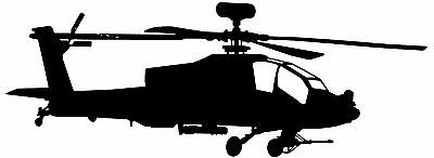 AH-64 APACHE US Army Attack Helicopter - *High Quality* Adhesive Vinyl Cut Decal