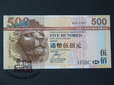 B95 - Banknote - Five Hundred Hong Kong Dollars Serie Gg412993 2007'
