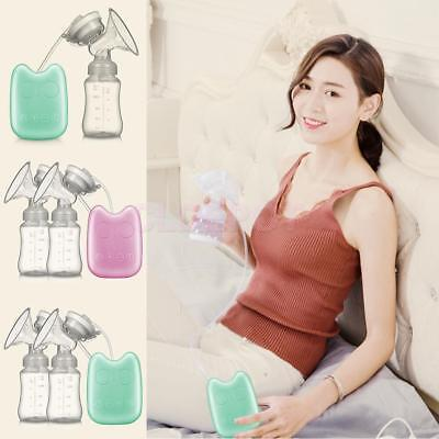 LCD Display Comfort Electric Feeding Breast Pumps for Baby with Milk Bottle USB