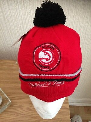 Official NBA Altanta Hawks Mitchell & Ness Beanie Hat