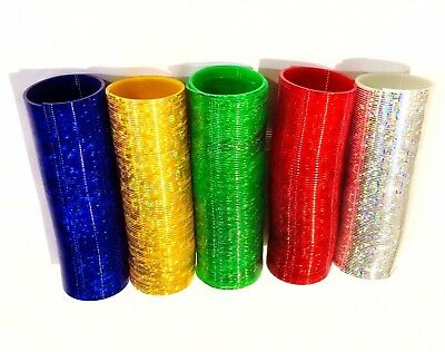 2 X Colourful Magic Walking Spring Slinky 15cm